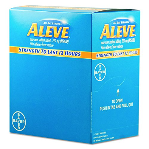 Aleve BXAL50 Pain Reliever Tablets (Pack of 50)
