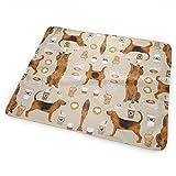 Light Saber Dun Bloodhound - Cambiador portátil para perros y cafés, almohadilla plegable con correa para cochecito y bolsillo para pañales y toallitas