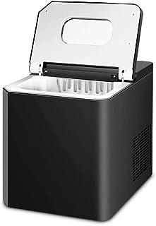 Machine de machine à glaçons à comptoir 11kg noir pour la cuisine à domicile, pépite électrique taille glaçons faisant mac...