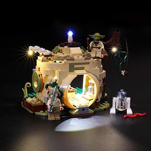 BRIKSMAX Led Beleuchtungsset für Lego Star Wars Yodas Hütte,Kompatibel Mit Lego 75208 Bausteinen Modell - Ohne Lego Set