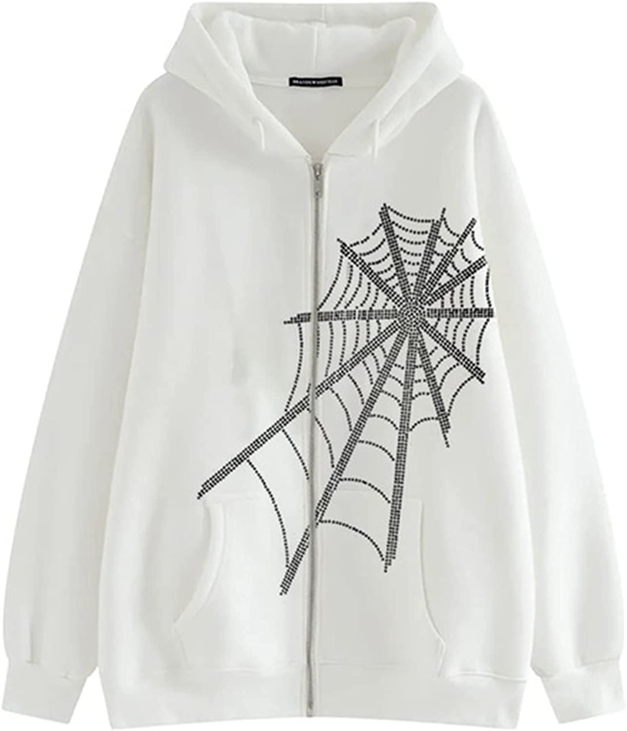 Sweatshirts for Women Casual Autumn Hooded Fashion Gothic Dark Loose Print Casual Full-Sleeve Tops Coat for Ladies