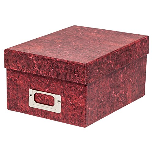The Photo Album Company Boîte rigide de rangement de photos ou boîte cadeau–Rouge - 10 x 15 cm