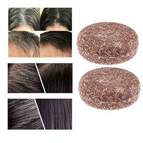 Organic Grey Reverse Shampoo Bar - Essence-Hair Darkening Shampoo-Soap, voor wit haar, droog haar hun haarkwaliteit (2 stuks)