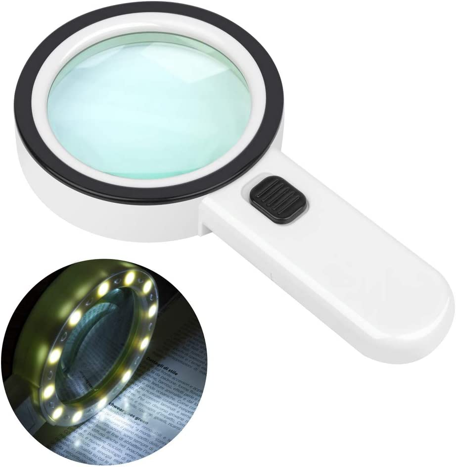 Magnifying Deluxe Glass with Light Handheld Large 12 Direct stock discount