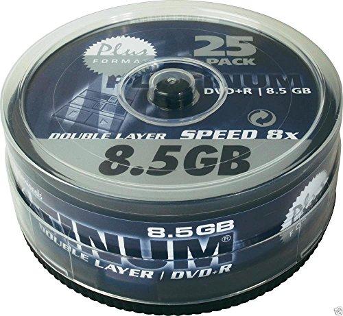 25 Stück Platinum DVD+R Double Layer 8,5 GB 240 Minuten