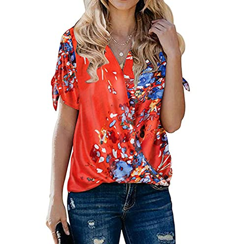 Mode V-Ausschnitt Shirt Frauen Sommer New Solid Color Loose Plissee Pullover Top