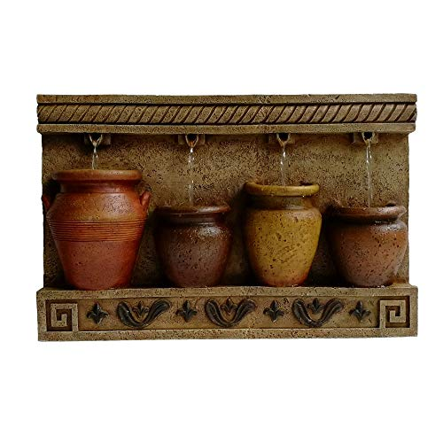Hi-Line Gifts 22' Beige and Brown 4 Pouring Jugs Outdoor Patio Garden Fountain