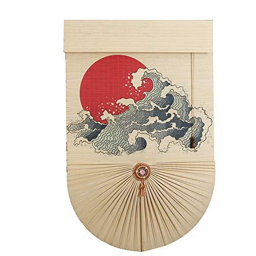 JIAYUAN rolgordijn Het blinde bamboe rolgordijn is decoratief en waterafstotend en anti-condens-gordijn in retro zonwering - de grootte kan individueel worden aangepast.