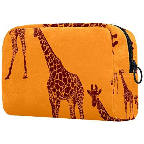 GiraffePortable Trousse de toilette étanche pour femme