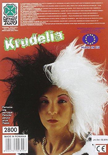 Carnival Toys 2800 - pruik Cruella, zwart/wit