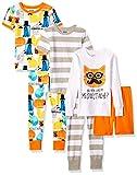 Amazon Brand - Spotted Zebra Toddler Boys Snug-Fit Cotton Pajamas Sleepwear Sets, Meowstache, 3T
