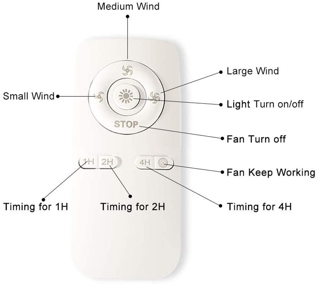 Ventilador De Techo Con Luz Led, Velocidad Del Viento Ajustable ...
