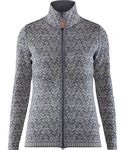 Fjallraven Damen Snow Cardigan W Sweatshirt, Grey, M
