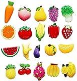 Dragon Troops 20 Preciosas Pegatinas de imán de Nevera Mini Verduras y Frutas de imán de Nevera Set