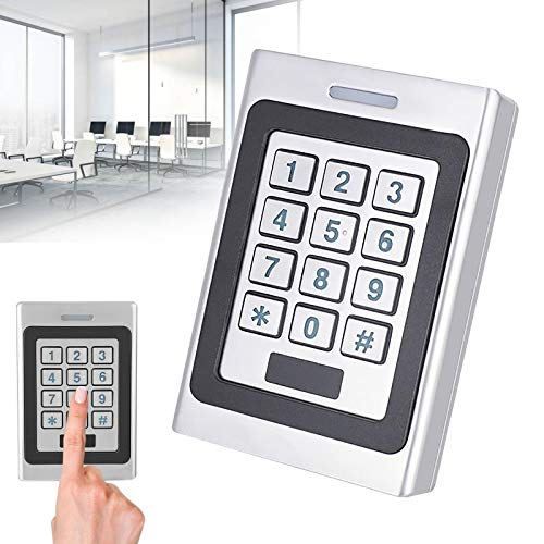 Sistema de control de acceso de seguridad para puerta con código IP67, resistente al agua, control de acceso con contraseña, sistema de apertura de puerta, con alarma antirrobo
