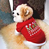 N/A Pet Dog Spring And Summer Clothes Christmas Dog Clothes Spring And Summercoat For Chihuahua Santa Claus Cartoon Dog Warm Hoodie Pet Clothes Dog Sweater Pet Holiday Birthday Gift