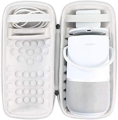 Khanka Hart Tasche Schutzhülle Für Bose Portable Home Speaker Lautsprecher,Case passt Lautsprecher und Ladeschale.(Silber)