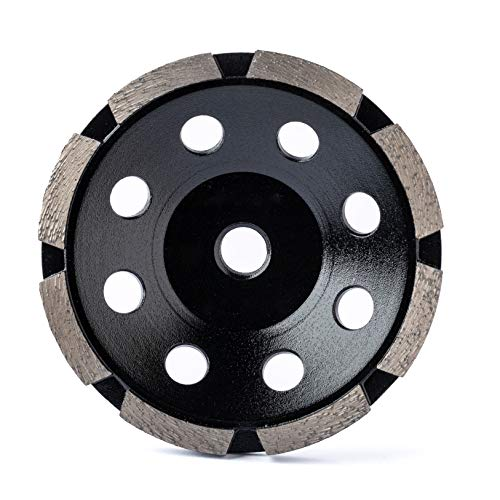 Diamond Grinding Wheel Cup Wheel Diamond Disc Grinder for Concrete and Paint Epoxy Mastic Coating Removal 4-1/2 inch 5/8-11 inch bore