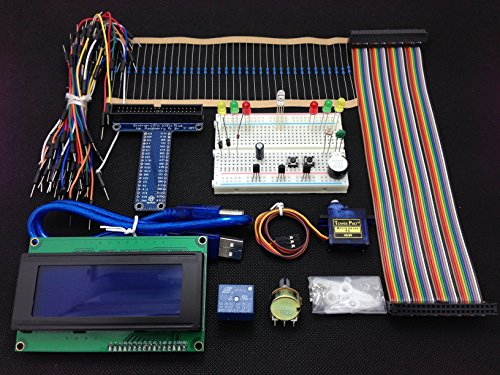Sintron] New 40-Pin T-Cobbler GPIO Extension Board with LCD 2004 and Micro Servo Motor Starter Kit for Raspberry Pi 1 Models A+ and B+, Pi 2 Model B, Pi 3 Model B and Pi Zero