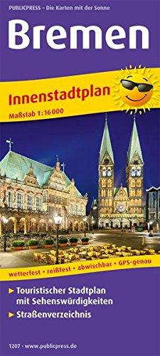 Bremen: Touristischer Innenstadtplan mit Sehenswürdigkeiten und Straßenverzeichnis. 1:16000 (Stadtplan: SP)