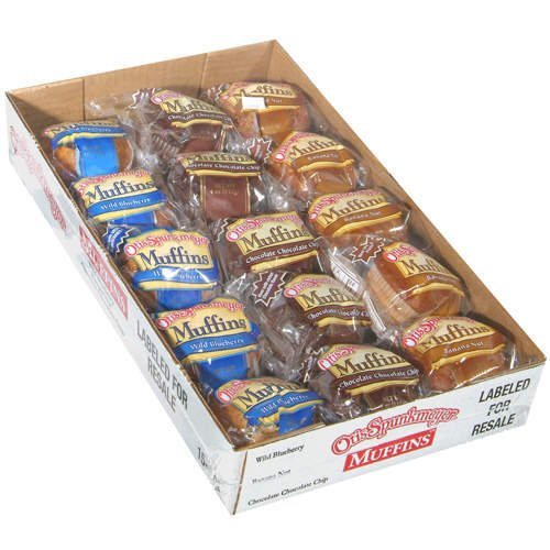 Otis Spunkmeyer Muffins/10 Blueberry/10 Banana Nut/10 Chocolate Chip, 4 oz (Pack of 30)