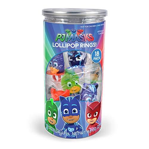 PJ Masks Lollipop Rings Birthday Party Favors - 18-Pack Tub