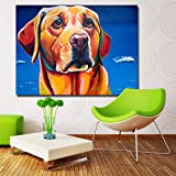 Estilo nórdico Bulldog Pintura Arte de la Pared Poster Prints Animal Canvas Painting Print Picture para la Sala de Estar Decoración del hogar-60x80cm (Sin Marco)
