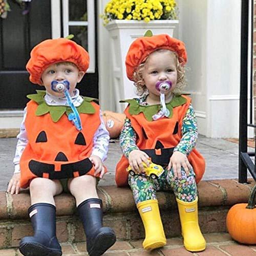 ハロウィン コスプレ かぼちゃ パンプキン キッズ パーティー イベント 子供 ソフト 仮装 100cm 帽子付 か...