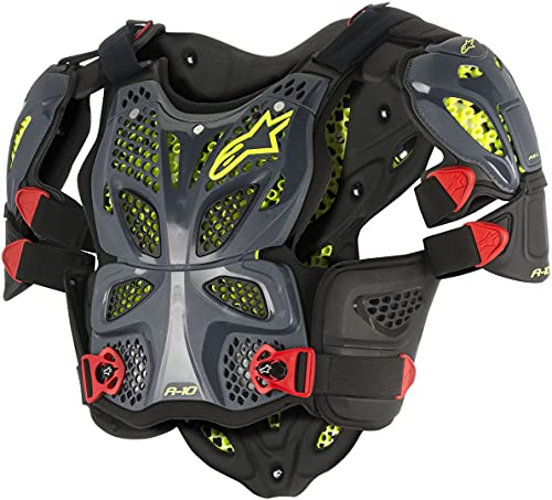 Alpinestars Unisex-Adult A-10 Full Chest Protector Anthracite/Red Xl/2X (Multi, one_size) - 6700517-1431-X-2XL