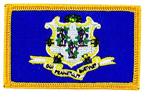 Patroon, geborduurd, vlag Connecticut, om op te strijken, USA