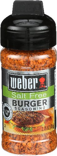 Weber Salt Free Burger Seasoning, 2.75 oz (3 pack)