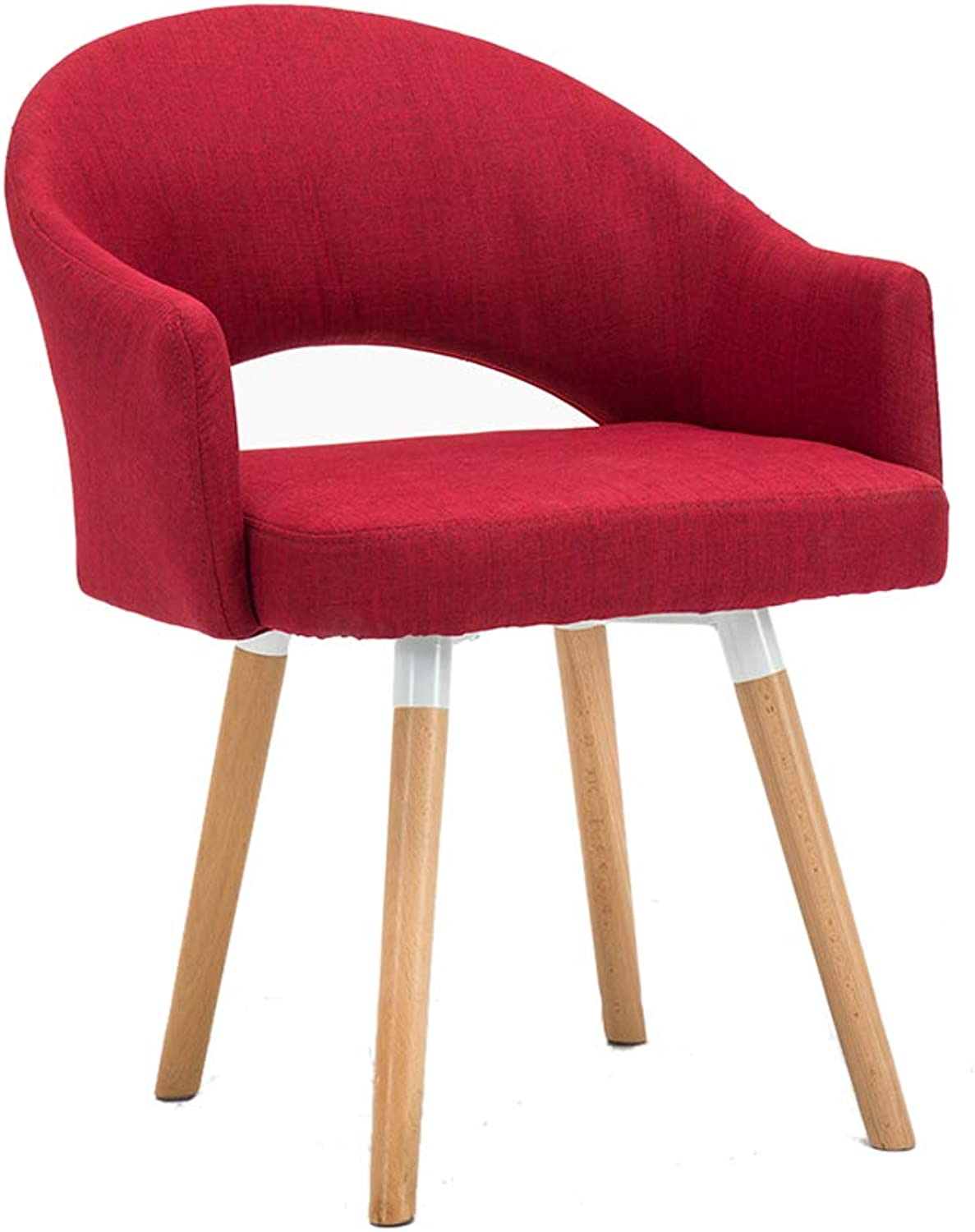 Dining Chairs Sofa Lounge Chair Computer Chair Makeup Stool,Solid Beech Wooden Legs Cotton Linen, for Restaurant Pub Cafe Living Room Hotel Balcony
