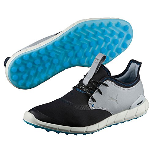 PUMA Ignite Spikeless Sport Herren Golfschuhe schwarz grau NEU, Größe:UK 9 | EUR 43 | US 10 | cm 28