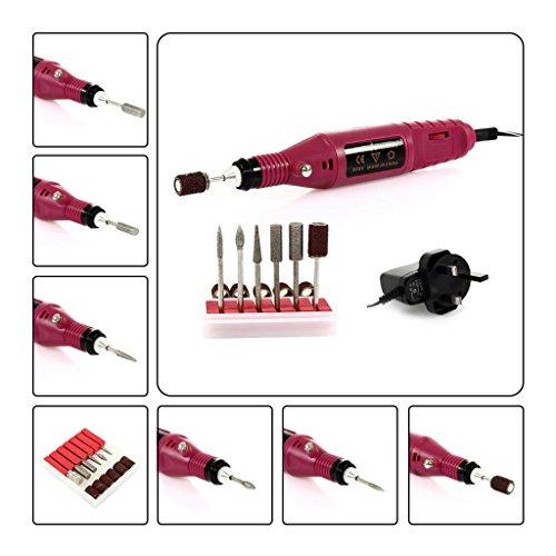 CoastaCloud Taladro de clavo eléctrico Pulidor Broca Para Arte Unas máquina manicura pedicura