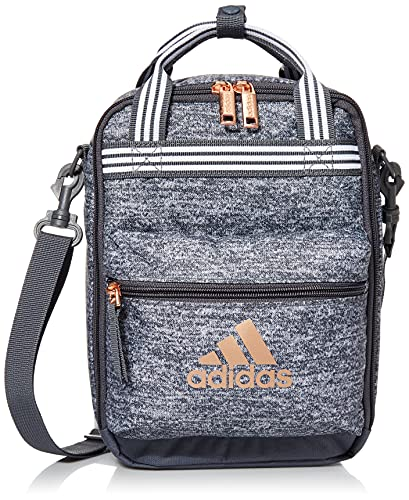 adidas Squad Insulated Lunch Bag, Jersey Onix Grey/Rose Gold, One Size