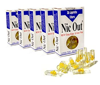 Nic Out Cigarette Filters 5 Packs 150 Filters