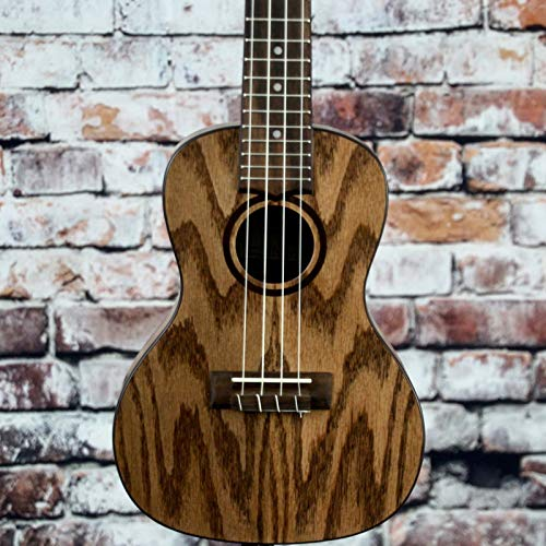 Lanikai Model OA-C Oak Concert Size Acoustic Ukulele with 10mm Padded Gig Bag