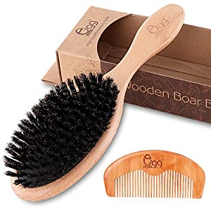 Beauty Shopping BLACK EGG Hair Brush for Thin and Normal Hair Adds Shine and Improves Hair Texture