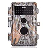 [2021 Upgraded] Game Trail Camera 20MP 1920X1080P H.264 MP4 Video No Glow with Night Vision Motion Activated IP66 Waterproof Outdoor Tracking Time Stamp & Time Lapse Photo & Video Model