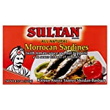 Sultan Moroccan Sardines in Tomato Sauce, 100% All-Natural, High Protein, No Additives, No Preservatives, Paleo, Carnivore, Keto Friendly, Zero Carb, Sealed Freshness 4.37 oz Pack of 50