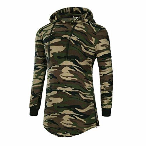 Sweat à capuche Hommes Toamen Pulls à capuche Chemises Hip hop Camouflage de hipster Blouse Sweatshirt à manches longues Chemise de sport Le jogging Pour des hommes(L2,Camouflage)
