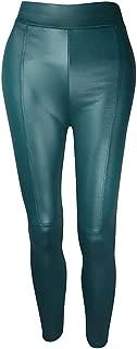 Women's Faux Leather Leggings Ankle-Length Leggings Skinny PU Leather Pants Sexy Skinny Pants High Waist Pants
