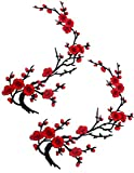 Flores Parches Bordados para Ropa Coser Decoración Del Bordado Coser Apliques Encaje Ciruelo manualidades DIY para decorar prendas de ropa