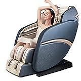 SUFUL S6 Sillón de Masaje de Cuerpo Completo, Manos robóticas 3D, Rodillo de Masaje de pies, Pista SL, Masaje Shiatsu, Respaldo calefactado, (Beige Blue)