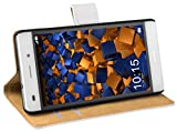 mumbi Echt Leder Bookstyle Case kompatibel mit Huawei Y3