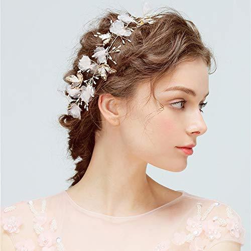 DEAR-JY Hochzeit Haarschmuck, Korean Fairy Style Braut Schmetterling Kristall Stirnband, 100% Handgefertigt, Elegant Und Romantisch Geeignet Für Den Alltag Und Hochzeitskleidung