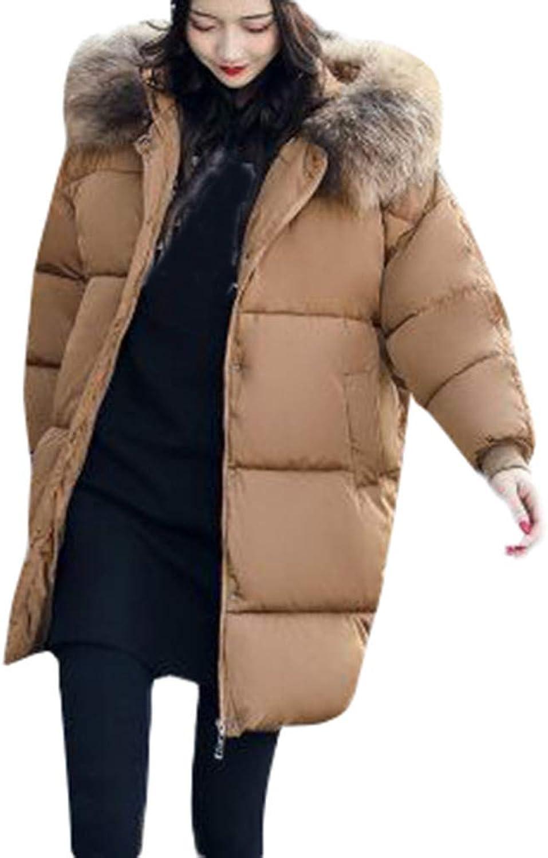FIRERO Women Winter Warm Thick Outerwear Hooded Coat Slim CottonPadded Jacket