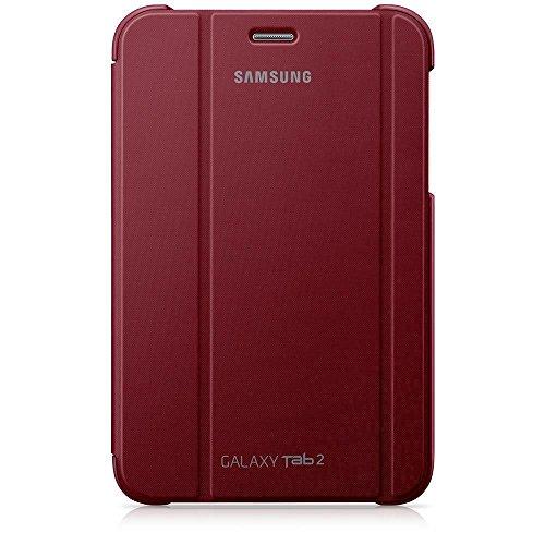 Samsung Original Diarytasche (Flipcover) im Buchdesign EFC-1G5SRECSTD (kompatibel mit Galaxy Tab 2 7.0) in garnet red