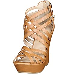 Wedge high heels for women