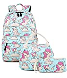 Abshoo Cute Lightweight Unicorn Backpacks With Lunch Box For Girls School Bags Kids Bookbags...